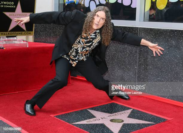 Weird Al Yankovic is honored with star on The Hollywood Walk of Fame on August 27 2018 in Los Angeles California