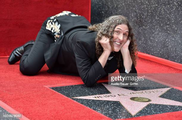 'Weird Al' Yankovic is honored with star on the Hollywood Walk of Fame on August 27 2018 in Los Angeles California