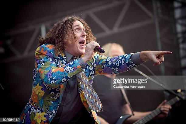 Weird Al Yankovic performs at Falls Festival on December 31 2015 in Byron Bay Australia