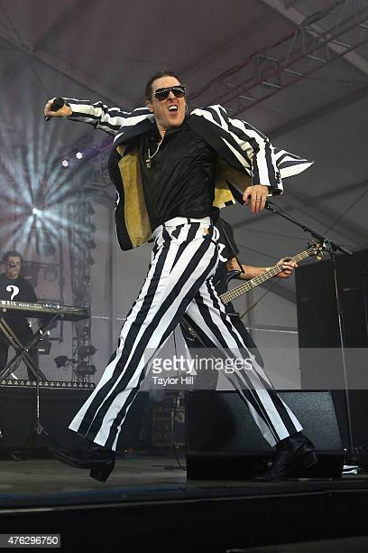Weird Al Yankovic performs during the 2015 Governors Ball Music Festival at Randall's Island on June 7 2015 in New York City