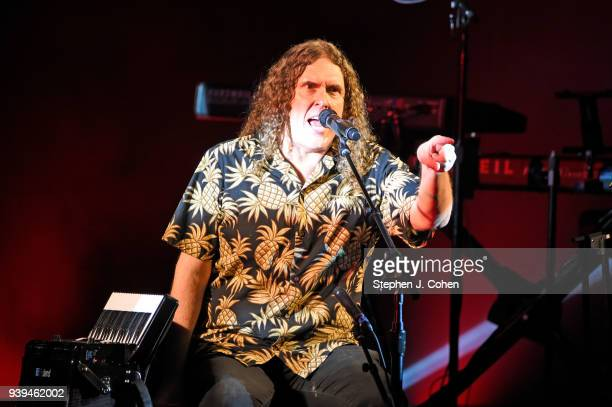 'Weird Al' Yankovic performs during The Ridiculously SelfIndulgentÊIllAdvised Vanity Tour at Brown Theatre on March 28 2018 in Louisville Kentucky