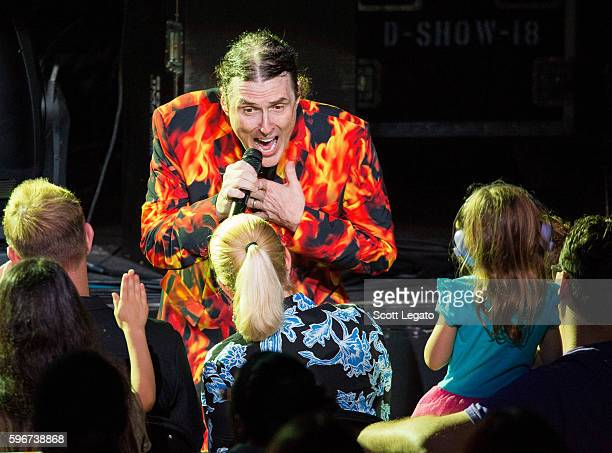 'Weird Al' Yankovic performs in support of The Return Of The Mandatory Tour 2016 at Freedom Hill Amphitheater on August 27 2016 in Sterling Heights...