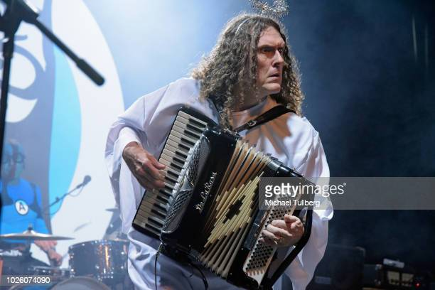 'Weird Al' Yankovic performs with the Aquabats at El Rey Theatre on September 1 2018 in Los Angeles California