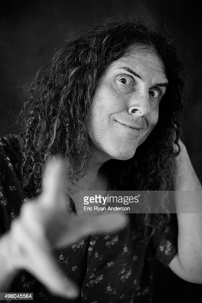 Weird Al Yankovic poses for a portrait at the Governors Ball 2015 Music Festival for Billboard Magazine on June 6 2015 in New York City