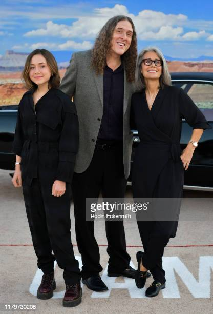 Weird Al Yankovic Suzanne Yankovic and Nina Yankovic attend the premiere of Netflix's El Camino A Breaking Bad Movie at Regency Village Theatre on...