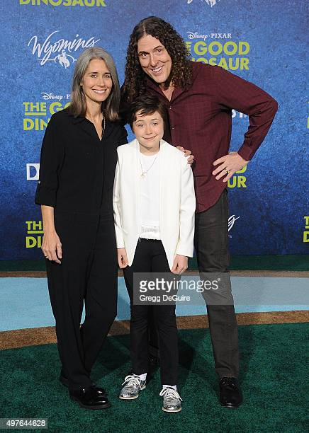 Weird Al Yankovic wife Suzanne Krajewski and daughter Nina arrive at the premiere of DisneyPixar's 'The Good Dinosaur' on November 17 2015 in...