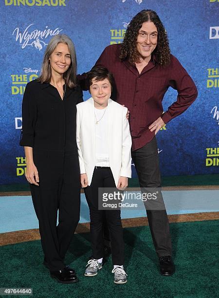 Weird Al Yankovic wife Suzanne Krajewski and daughter Nina arrive at the premiere of DisneyPixar's The Good Dinosaur on November 17 2015 in Hollywood...