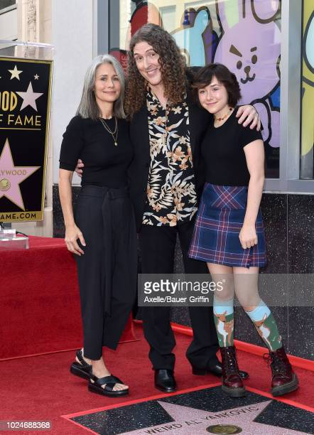 'Weird Al' Yankovic wife Suzanne Yankovic and daughter Nina Yankovic attend the ceremony honoring 'Weird Al' Yankovic with star on the Hollywood Walk...
