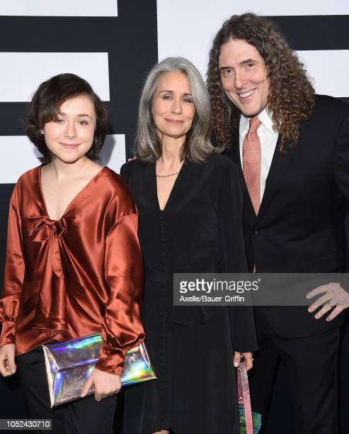 Weird Al Yankovic wife Suzanne Yankovic and daughter Nina Yankovic attend the Universal Pictures' 'Halloween' premiere at TCL Chinese Theatre on...