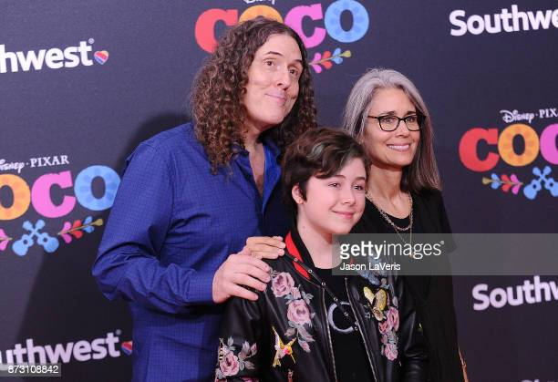 Weird Al Yankovic wife Suzanne Yankovic and daughter Nina Yankovic attend the premiere of Coco at El Capitan Theatre on November 8 2017 in Los...