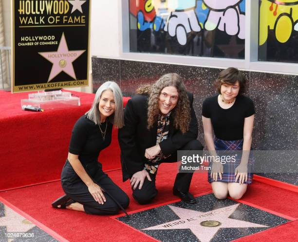 Weird Al Yankovic with his wife Suzanne Yankovic and daughter ina Yankovic attend the ceremony honoring Weird Al Yankovic with a Star on The Hollywod...