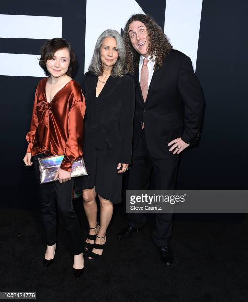 Weird Al YankovicSuzanne Krajewski Nina Yankovic arrives at the Universal Pictures' Halloween Premiere at TCL Chinese Theatre on October 17 2018 in...