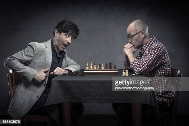 Weird men playing chess