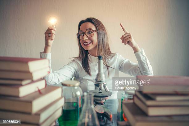 Weird woman scientist