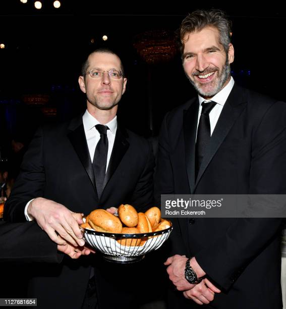B Weiss and David Benioff at the 17th Annual VES Awards at The Beverly Hilton Hotel on February 05 2019 in Beverly Hills California