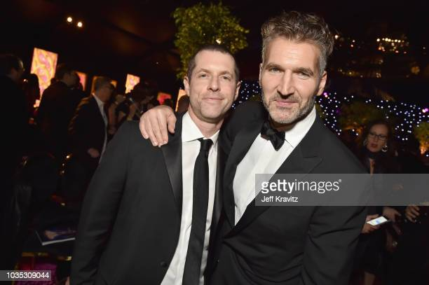 B Weiss and David Benioff attend HBO's Official 2018 Emmy After Party on September 17 2018 in Los Angeles California