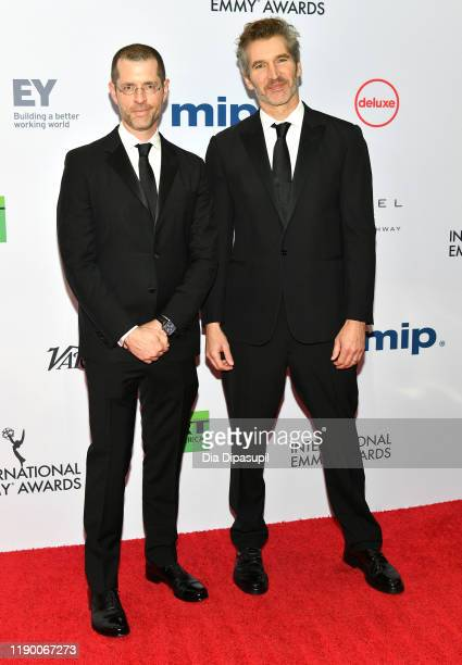 Weiss and David Benioff attend the 2019 International Emmy Awards Gala on November 25, 2019 in New York City.