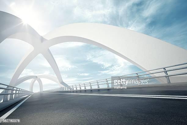 weisse bruecke 01 - arco architettura foto e immagini stock