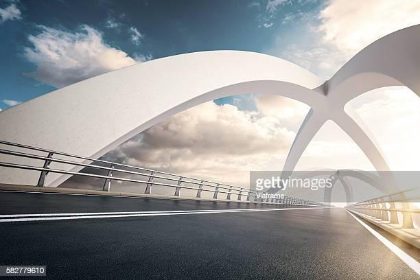 weisse bruecke 02 - ponte sostenuto da cavi foto e immagini stock