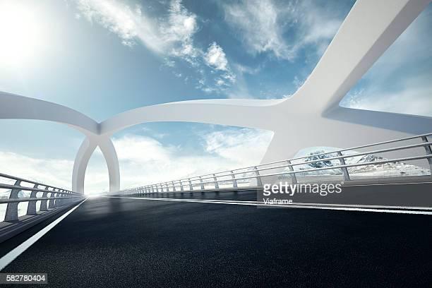 weisse bruecke persp0001 - arco architettura foto e immagini stock