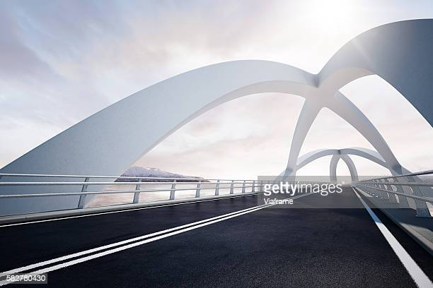 weisse bruecke persp0002 - diminishing perspective stock pictures, royalty-free photos & images