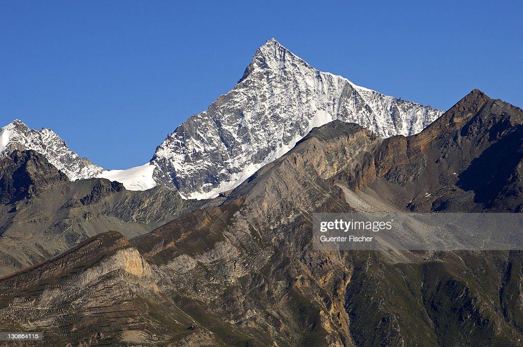Weisshorn, Zermatt Valais Switzerland : Stock Photo