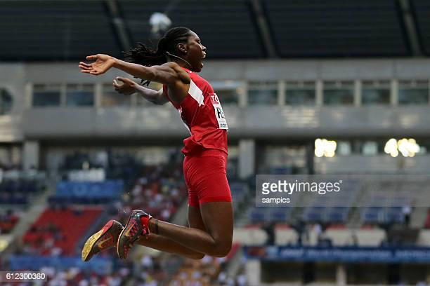 Weitsprung Frauen Women long jumo Weltmeisterin world Champion Brittney Reese USA Leichtathletik WM Weltmeisterschaft Moskau 2013 IAAF World...