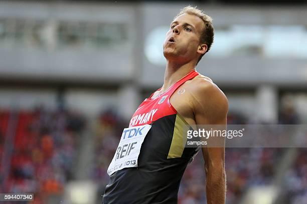Weitsprung long jump final men Christian Reif GER Leichtathletik WM Weltmeisterschaft Moskau 2013 IAAF World Championships athletics moscow 2013...