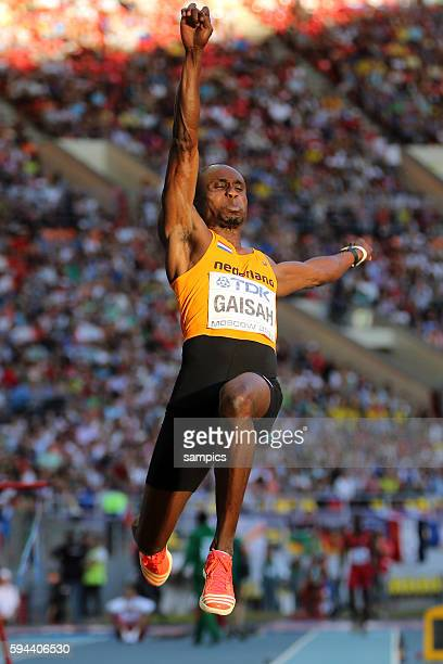Weitsprung long jump final men Silber Ignisious Gaisah NED Leichtathletik WM Weltmeisterschaft Moskau 2013 IAAF World Championships athletics moscow...