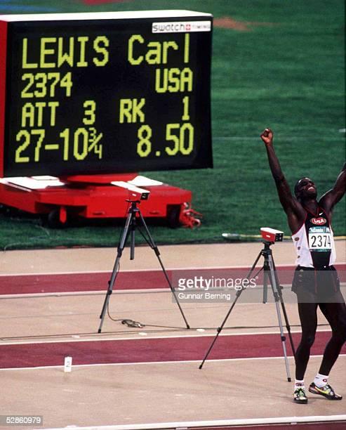 Weitsprung/Maenner ATLANTA 1996 29.7.96, Carl LEWIS/USA gewinnt die GOLD - MEDAILLE
