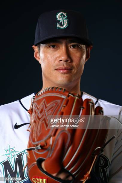 Wei-Yin Chen of the Seattle Mariners poses during the Seattle Mariners Photo Day on February 20, 2020 in Peoria, Arizona.