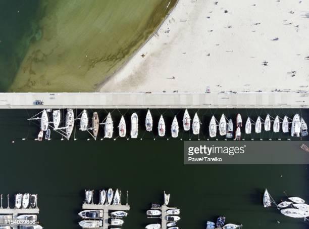 wejście marina żeglarska gdyni - グディニャ ストックフォトと画像