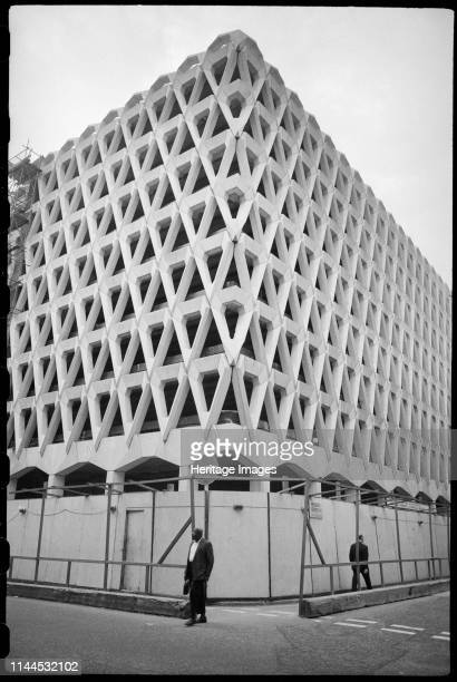 Welbeck Street Car Park Marylebone Westminster London circa 1970c1980 An exterior view of the Welbeck Street multistorey car park showing the...