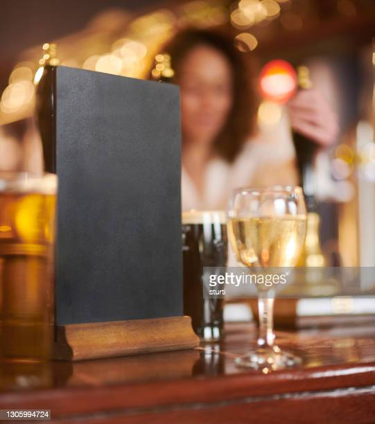 welcome back pub drinkers - blackboard stock pictures, royalty-free photos & images