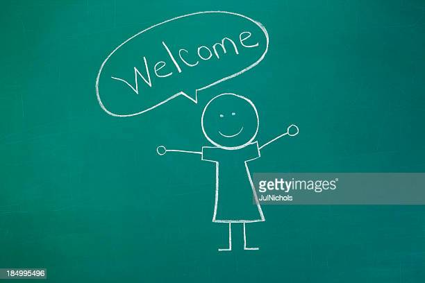 Welcome Chalk Drawing