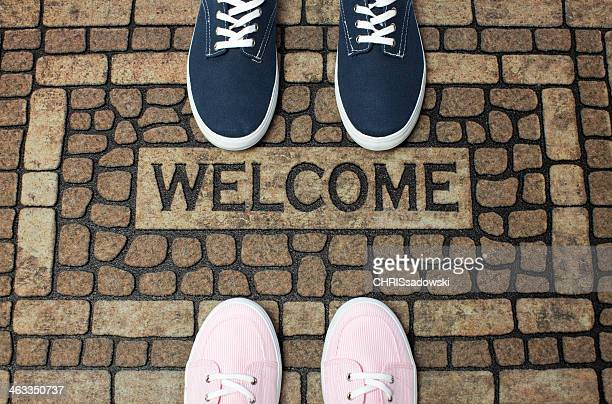 welcome doormat - guest stock pictures, royalty-free photos & images