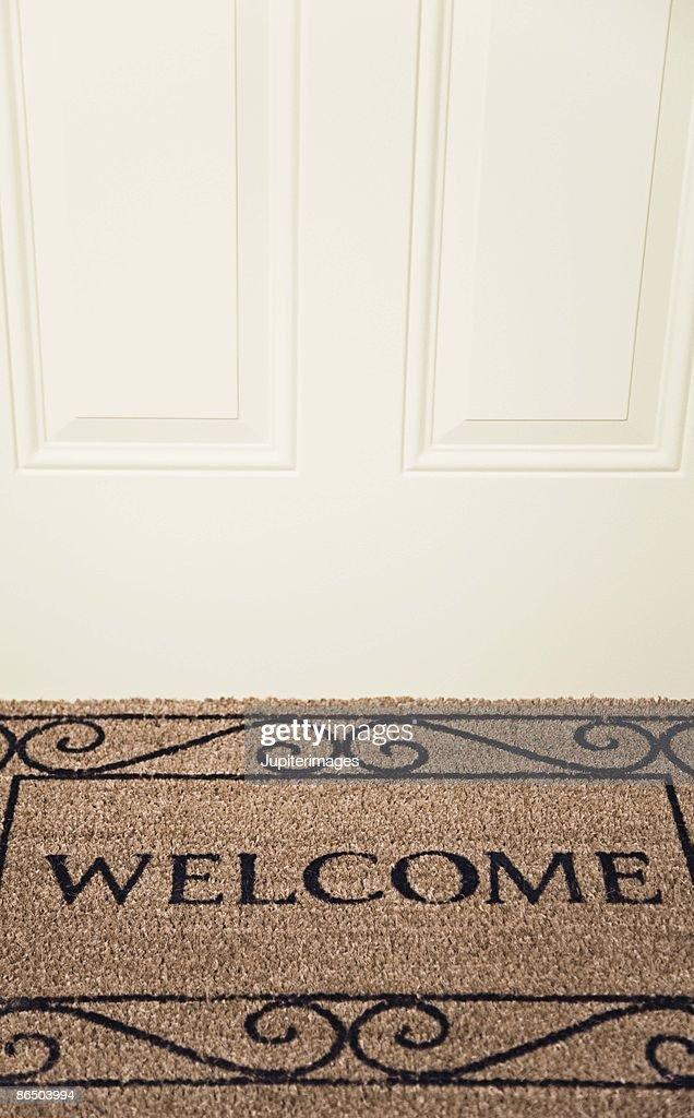 Welcome doormat : Stock Photo