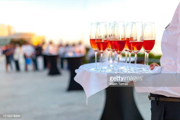 welcome drink - champagne colored stock pictures, royalty-free photos & images