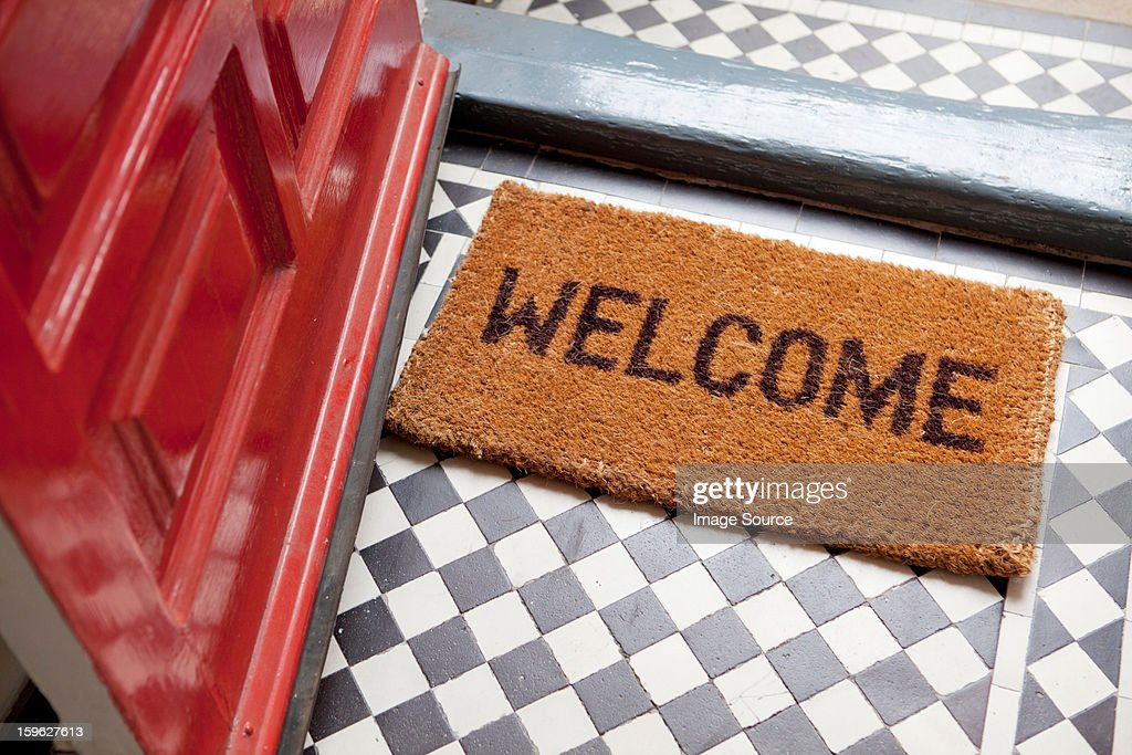 Welcome mat : Stock-Foto