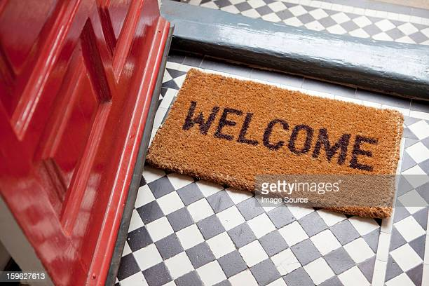 welcome mat - mat stock pictures, royalty-free photos & images