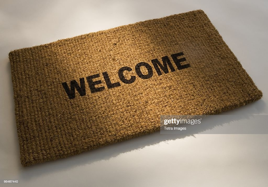 Welcome mat : Stock Photo
