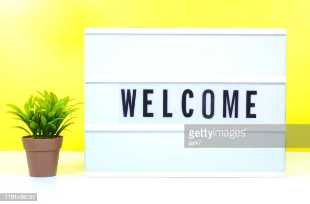 welcome - greeting foto e immagini stock