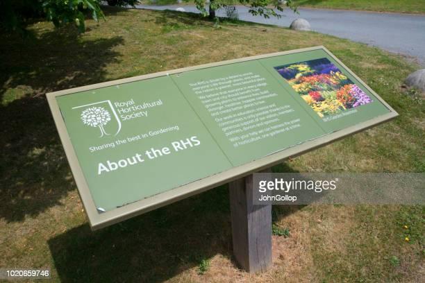 Welcome Sign at RHS Rosemoor