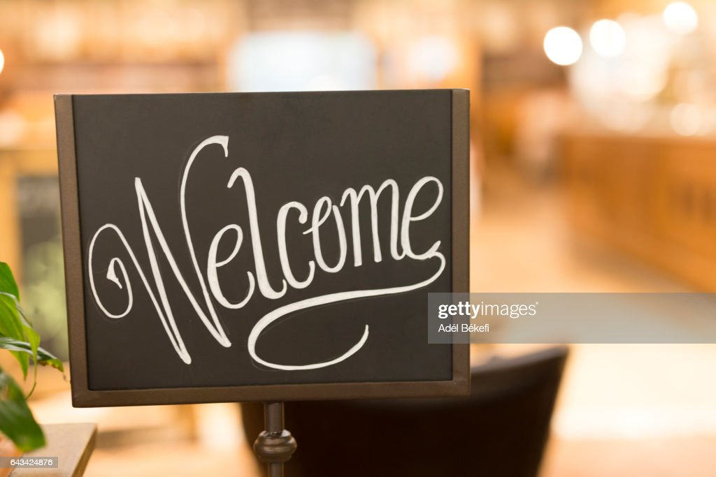 Welcome Sign : Foto stock
