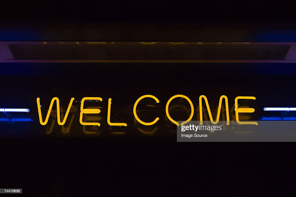 Welcome sign : Stock Photo