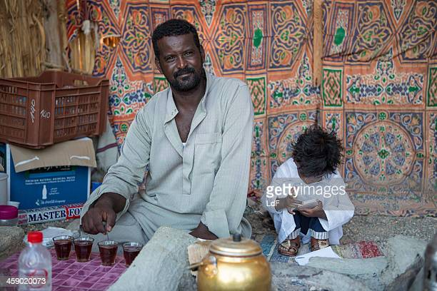 welcome tea. - bedouin stock pictures, royalty-free photos & images