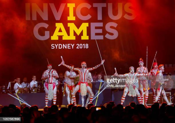 Welcome to country performed during the Invictus Games Sydney 2018 Opening Ceremony at Sydney Opera House on October 20 2018 in Sydney Australia
