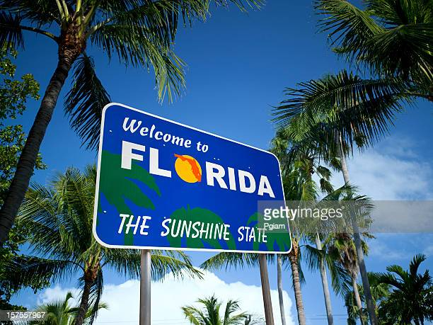 welcome to florida usa - florida us state stock pictures, royalty-free photos & images