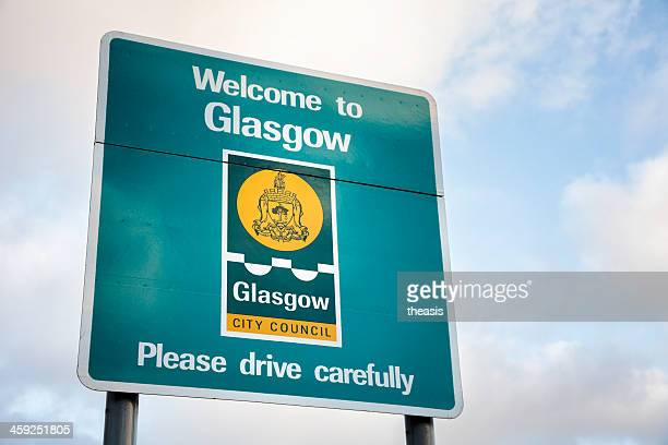 welcome to glasgow - theasis stock pictures, royalty-free photos & images