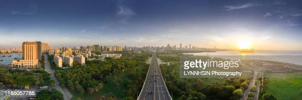 welcome to haikou pananorma - lynnhsin stock pictures, royalty-free photos & images